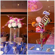 themed centerpieces bat mitzvah centerpieces candy sweet party theme mazelmoments