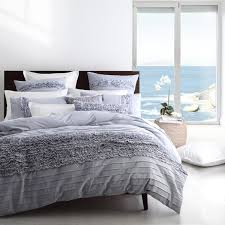 clovelly chambray blue quilt cover set by logan and mason platinum