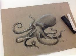 octopus rough charcoal sketch by artbox99 on deviantart
