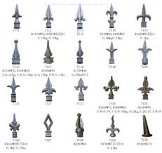 cast iron spearhead ornamental iron fence finials photo and