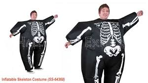 skeleton halloween costumes for kids inflatable black skeleton costume youtube