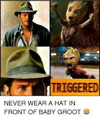 Top Gun Hat Meme - 25 best memes about baby groot baby groot memes