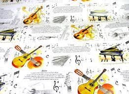 themed wrapping paper violin guitar wrapping paper gift wrap musical gifts
