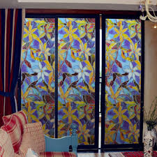 stained glass home decor static window films 3 meters orchid pvc films window decals non