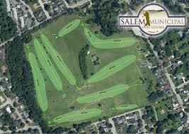 Salem Virginia Map by Municipal Golf Course
