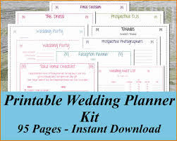 wedding planner book 4 free wedding planner book expense report