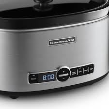 amazon com kitchenaid ksc6223ss 6 qt slow cooker with standard