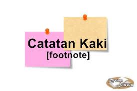 penulisan daftar pustaka nama tiga suku kata catatan kaki pengertian cara penulisan contoh lengkap