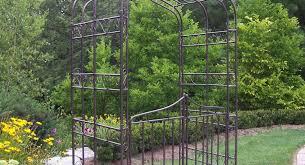pergola garden trellis metal inviting metal trellis on building