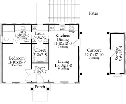 southern style house plan 1 beds 1 00 baths 815 sq ft plan 406 9619