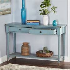 Entryway Table With Drawers Blue Console Table Tables Ebay