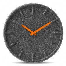 Designer Clock Leff Amsterdam Felt Designer Wall Clock Orange