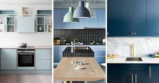 light blue cabinets kitchen kitchen color inspiration 12 shades of blue cabinets