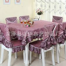 Fabric Dining Room Chair Covers Ty218 Fashion Embroidered Rustic Dining Table Fabric Chair Cover