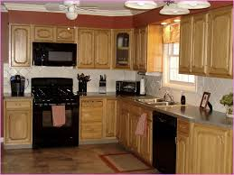 kitchen cute maple kitchen cabinets with black appliances