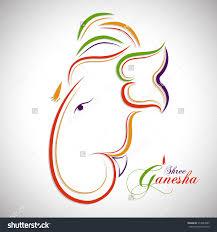 Ganesh Puja Invitation Card Illustration Of Lord Ganesha Face For Ganesha Chaturthi U0026 Diwali