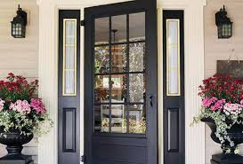 door exterior door window incredible entry door glass block