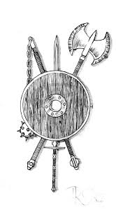 viking shield tattoo pesquisa google draw pinterest shield