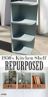 storage bins from repurposed kitchen cabinets kitchen shelves