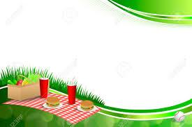 hintergrund abstrakte grüne gras picknickkorb hamburger trinken