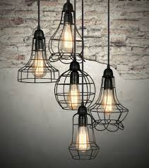 Jelly Jar Light With Cage by Urban Barn Rustic Style Cage Light Chandelier Pendant Fixture