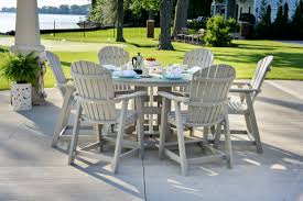 Patio Chairs Bar Height High Dining Outdoor Tables Hampton Bay Vichy Springs 7 Piece