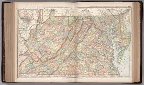 Geography Of Virginia World Atlas by Map Of Virginia West Virginia Maryland And Delaware 101 David
