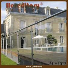 china tempered glass balcony railing stainless steel glass deck