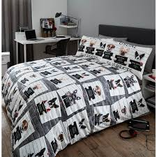 nineteen11 usual suspects bad dogs duvet cover set multi double g t s original warehouse