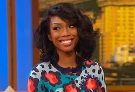 brandy the game hair cut brandy dishes about wedding on wendy rap up