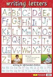 letter formation learning to write poster 40x60cm amazon co