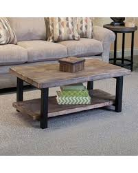 42 inch coffee table new savings on pomona metal and reclaimed wood 42 inch coffee table