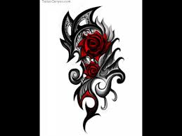 red rose cross tribal tattoo photos pictures and sketches