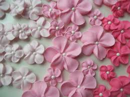 edible cake decorations shades of pink ombre flowers ready to ship edible cake