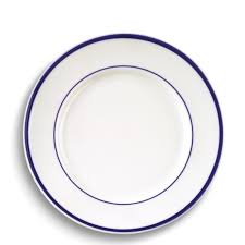 brasserie blue banded porcelain dinner plates williams sonoma