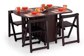 Folding Table With Chairs Inside Collapsible Dining Table Set Best Gallery Of Tables Furniture