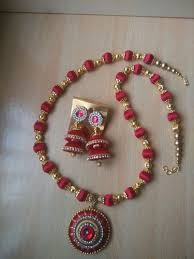 handmade chain necklace images Silk thread long chain necklace set at rs 350 piece niya jpg
