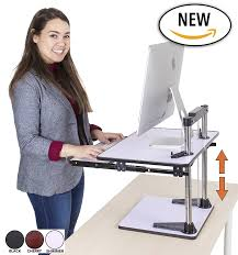 Sit Stand Desk Converter by Amazon Com The Uptrak Metro Standing Desk U0026 Bonus Keyboard Tray