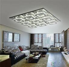 large ceiling chandeliers luxury large modern led ceiling chandelier light k9 square