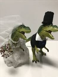 dinosaur wedding cake topper custom dinosaur wedding cake topper animal wedding cake topper t