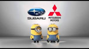 mitsubishi subaru subaru vs mitsubishi minions style youtube