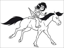 dessin ã colorier bison indien