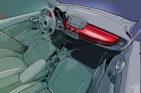 lexus interior sketch 2016 fiat 500x first look motor trend