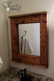 wood bathroom mirror diy wood frame mirror bathroom mirror frame