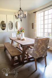 dining room tables with benches and chairs diy 40 bench for the dining table shanty 2 chic