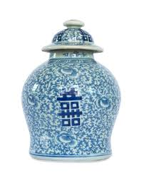 blue and white double happiness ginger jar u2013 the pink pagoda