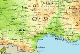 France Spain Map by Gr7