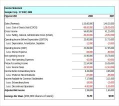 Income Statement Excel Template Excel Template Income Statement 7 Free Income Statement Templates