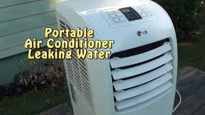 portable ac leaking water bad float or not level youtube