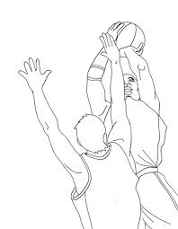kidscolouringpages orgprint u0026 download basketball colouring